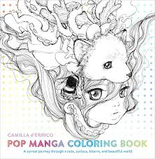 cute manga coloring pages pop manga coloring book camilla d errico