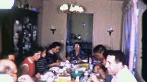 thanksgiving dinner family meal 1940s vintage home