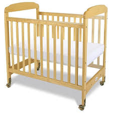 Crib With Mattress Foundations Serenity Clearview Hardwood Compact Crib With