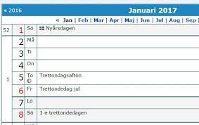 Kalender 2018 Helgdagar är Trettondagsafton 2018 En Röd Dag Högtider Och Traditioner