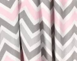 Gray And Pink Curtains Baby Curtains Etsy