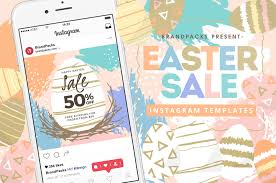 instagram layout vector illustrator easter sale instagram templates in psd ai vector brandpacks