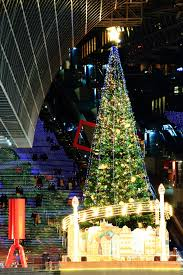 tree illumination kyoto station building land of the