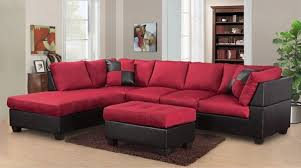 microfiber sectional with ottoman red microfiber sectional with black leather base discount