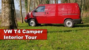 volkswagen van interior vw t4 transporter camper van interior tour youtube