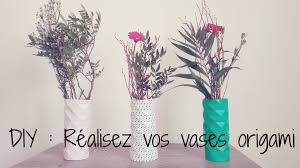 Vase Deco Diy Design Origami Vase Youtube