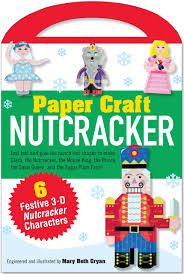 nutcracker paper craft kit papercraft paper toy mary beth