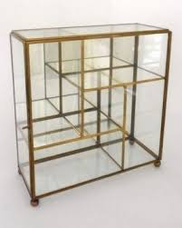 Oak Glazed Display Cabinet Small Glass Curio Cabinet Display Case Foter