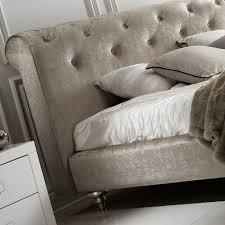 Italian Bedroom Furniture London Designer Button Upholstered Velvet Italian Bed Juliettes