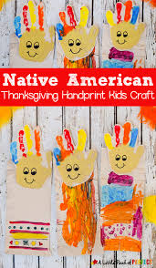 native american thanksgiving handprint kids craft