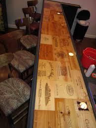 Building A Wood Bar Top Epoxy Bar Top Finally Found A Project For All The Wine Boxes I