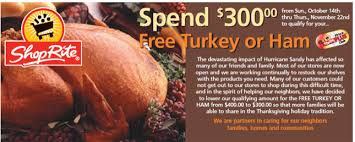 shoprite free turkey 2012 now 300 needed to qualify living