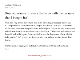 promise rings for meaning ring of promise i wrote this to go with the promise ring that i
