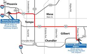 Map Phoenix Az phoenix mesa gateway airport
