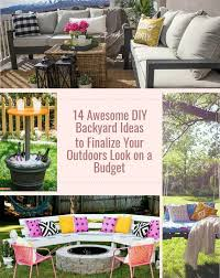 awesome diy backyard ideas to finalize your outdoors look on a budget