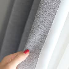 Light Grey Blackout Curtains Light Grey Woven Textured Classic Curtain