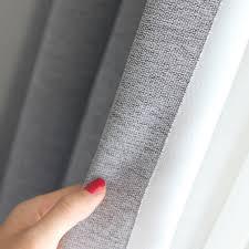 light grey woven textured classic curtain