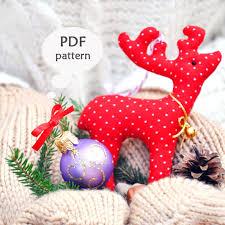 reindeer sewing pattern christmas sewing projects deer