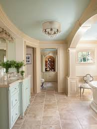 house of turquoise love the soft aqua ceiling and vanity this is
