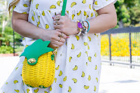 Pineapple Trend by Fruit Fashion Trend Banana Print Dress Pineapple Bag