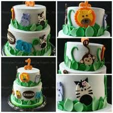 zoo themed birthday cake cute jungle animal cake with fondant lion elephant crocodile