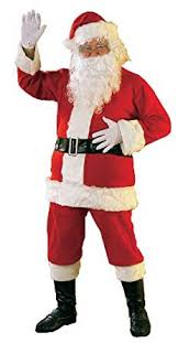 santa costumes rubie s flannel santa suit with beard and wig