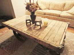 vintage restored lineberry factory cart coffee table by keeriah