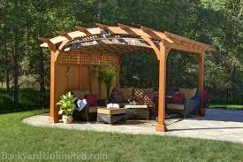 pergolas arched backyard unlimited