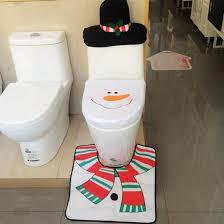 wholesale creative christmas decoration for home santa toilet seat