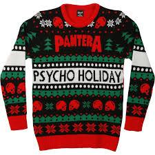 pantera ugly christmas sweater sweatshirt rockabilia