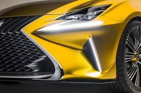 lexus yellow light lexus lf c2 concept hits l a likely previews rc convertible