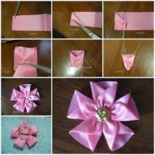 ribbon flowers diy easy silk ribbon flower