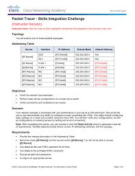 6 5 1 2 packet tracer skills integration challenge instructions ig