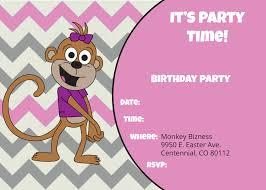birthday invitations little monkey bizness westminster