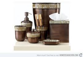 Cool Bathroom Accessories by 15 Trendy Modern Bathroom Accessories Set Home Design Lover Brown