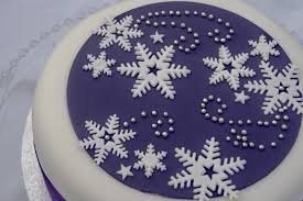 Christmas Cake Decorations Rudolph by Purple U0026 Snowflakes Christmas Cake Purple Cake And Xmas
