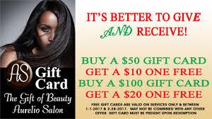 salon gift cards salon gift cards aurelio salon spa