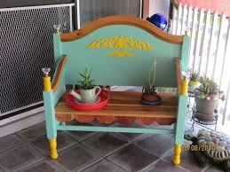 Repurpose Upcycle - bench made from old bed frame hometalk