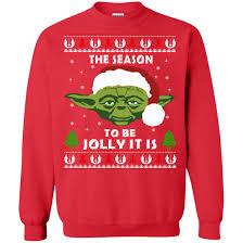 wars sweater wars yoda tis the season to be jolly it is sweater
