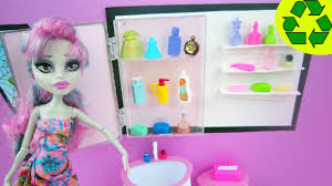 How To Make Dollhouse Furniture From Recycled Materials Make A Doll Medicine Cabinet Doll Crafts Simplekidscrafts