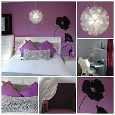 Black And White And Pink Bedroom Bedroom Astounding Black Floral Wall Decals And White Purple