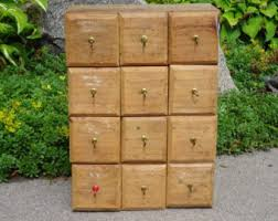 Multi Drawer Wooden Cabinet Apothecary Cabinet Etsy