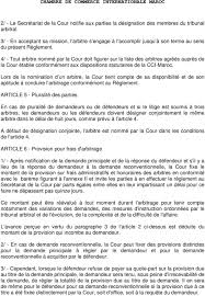 chambre internationale de commerce arbitrage chambre de commerce internationale maroc reglement d arbitrage de la