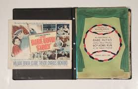 personalized scrapbook lot detail ruth 1895 1948 edition book signed
