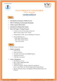 emergency responder course contents