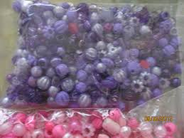 sale large bead lot approx 300 beads pink purple letter beads
