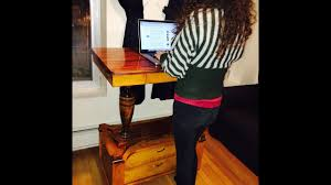 making the standing desk cabinet youtube