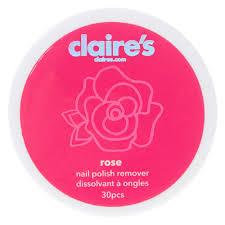 rose nail polish remover claire u0027s