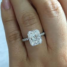 radiant cut engagement ring radiant cut wedding rings best 25 rectangle engagement rings ideas