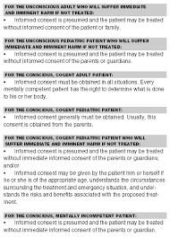 informed consent know rules and exceptions when they apply